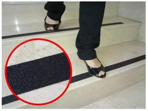 Taśmy antypoślizgowe na schody